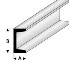 Profilo Profilo a C Channel 1,0x2,0mm/0.040x0.080  x 100 cm