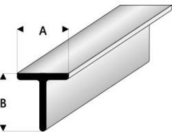 Profilo Profilo a T T-Beam 1,5x1,5mm/0.06x0.06  x 30 cm
