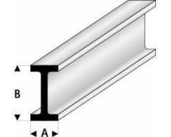Profilo Profilo a I I-Beam 1,25x2,5mm/0.05x01.10  x 30 cm