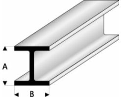 Profilo Profilo a H H-Column 4,0x4,0mm/0.156x0.156  x 30 cm