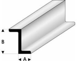 Profilo Profilo a Z Z-Beam 2,5x5,0mm/0.10x0.197  x 100 cm