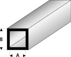 Profilo Tubo Quadro Square Tube 2,0x3,0mm/0.08x0.118  x 30 cm