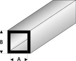 Profilo Tubo Quadro Square Tube 2,0x4,0mm/0.08x0.156  x 100 cm