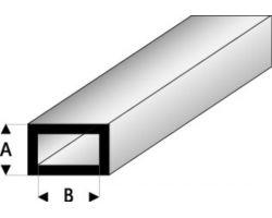 Profilo Tubo Rettangolare Rectangular Tube 2,0x4,0mm/0.08x0.156  x 100 cm