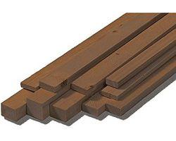 LISTELLI  2x4x1000 mm  (100Pz) NOCE STRIPS WALNUT NOGAL RETTANGOLARE ( OcCre - 180124 M)