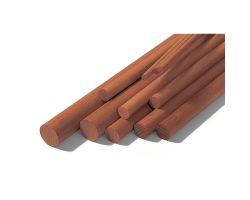 ASTE  Diam 10x1000 mm  (2 Pz) MOGANO DOWELS SAPELLY   ( OcCre 182010 )