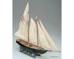 Modello kit barca AMERICA serie MINI MAMOLI scala 1:140