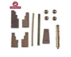 AFFUSTO CANNONE legno ottone 35 x 5,5 mm (2pz)