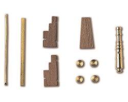 AFFUSTO CANNONE legno ottone 27 x 4,5 mm (2pz)