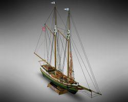 Modello kit barca FLYNG FISH serie MINI MAMOLI scala 1:100