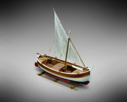 Modello kit barca GOZZO MEDITERRANEO VELA serie MINI MAMOLI in scala 1:28
