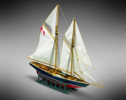Modello kit barca BLUENOSE serie MINI MAMOLI scala 1:160
