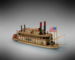 Modello kit barca MISSISSIPI serie MINIMAMOLI scala 1:206