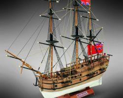 Modello kit barca HMS ENDEAVOUR serie MINI MAMOLI scala 1:143