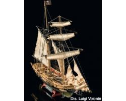 Modello kit barca BLACKBEARD Wooden ship model kit scala
