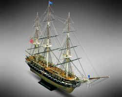 MV31 USS CONSTITUTION  54 gun Uunited States frigate 1797 Scale: 1/93  Length: 973 mm, Height:667mm