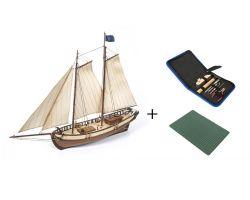 Polaris Starter Pack  Ref: 12007S Modello per principianti con incluso : accessori +tappetino di taglio Scala 1:50 altezza 446 mm  spessore 124 mm lunghezza 580mm ,con secondo fasciame
