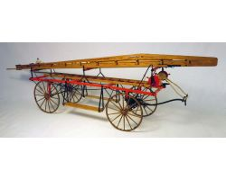 MODEL TRAILWAYS HOOK AND LADDER WAGON