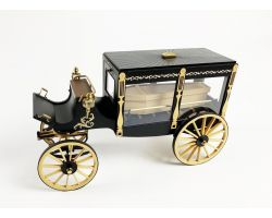 MODEL TRAILWAYS 1895 HORSE-DRAWN HEARSE WAGON