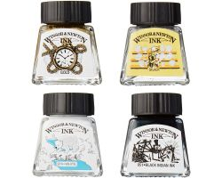 Winsor & Newton Drawing Ink Collection Black, White & Metallic