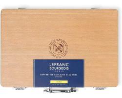 Lefranc Bourgeois Cassetta Legno 10 tubi x 40 ml, 2 additivi 75 ml e Accessori