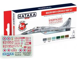 Hataka Hobby Modern North Korean AF Paint Set + 1/72 Decal Sheet