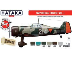 Hataka Hobby WW2 Dutch AF paint set vol.1