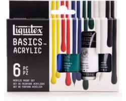 Liquitex Basics Acrylic Set da 6 tubi x 22 ml - Primari