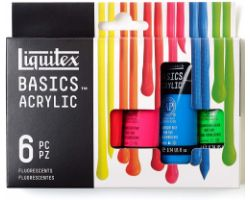 Liquitex Basics Acrylic Set da 6 tubi x 22 ml - Fluorescenti