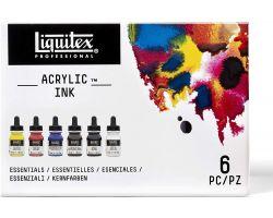 Liquitex Acrylic Ink Colori Essenziali - 6 x 30 ml