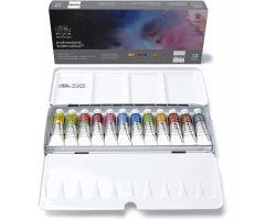 Winsor & Newton Professional Watercolour Scatola da viaggio in metallo 12 pz