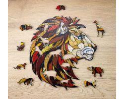 Lion - Puzzle 3D in legno - 100 pz