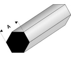 Profilo Esagono Hexagonal 2,0mm / 0.08  x 100 cm